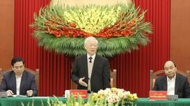 Tổng Bí thư Nguyễn Phú Trọng chủ trì cuộc gặp mặt các vị nguyên Ủy viên Bộ Chính trị, Ban Bí thư