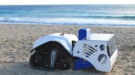 Xe dọn rác bãi biển điều khiển từ xa