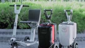 Xe scooter gấp gọn thành vali kéo trong vài giây