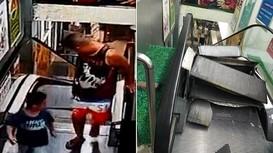 """Hai cha con thoát chết trong gang tấc khỏi """"thang máy nghiền"""""""