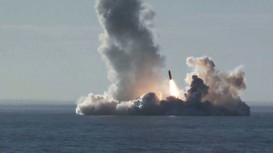 Video Nga phóng 4 tên lửa có sức công phá mạnh nhất thế giới từ tàu ngầm hạt nhân
