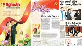 Báo Nghệ An số Xuân Canh Tý xuất bản với nhiều nội dung đặc sắc