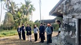 Đoàn công tác Tỉnh ủy khảo sát tại Khu lưu niệm đồng chí Phùng Chí Kiên