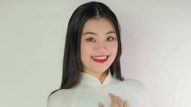Cô gái 18 tuổi cao 1,81m gây 'sốt' khi thi Hoa hậu Hoàn vũ Việt Nam