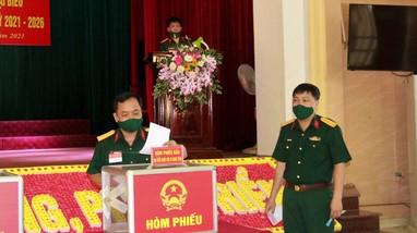 Bộ CHQS tỉnh và Tiểu đoàn 682 hoàn thành nghĩa vụ bầu cử