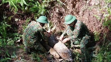 Hủy nổ thành công quả bom nặng 113 kg