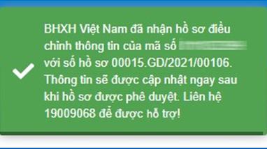 Hướng dẫn điều chỉnh thông tin cá  nhân trên cổng dịch vụ công Bảo hiểm xã hội Việt Nam