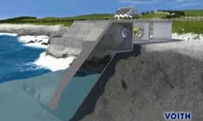 Đập tạo điện từ dao động sóng biển
