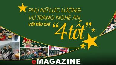 Phụ nữ lực lượng vũ trang Nghệ An với tiêu chí 'Bốn tốt'