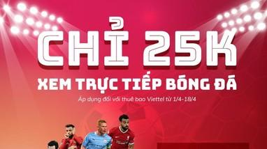 Xem trọn bộ Ngoại hạng Anh, Cup C1 chỉ với 25.000 đồng/tháng trên TV360