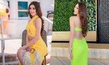 Khánh Vân mặc nổi bật tại Miss Universe