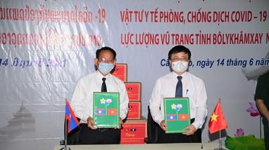 Nghệ An tặng trạm xá quân - dân y cho tỉnh Bôlykhămxay, Lào