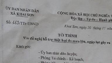 Cán bộ xã ở Anh Sơn bị khởi tố vì liên quan việc chi trả tiền hỗ trợ sản xuất sau lụt bão