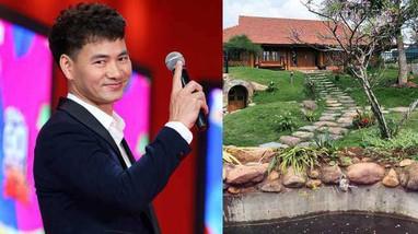 Cận cảnh 'biệt phủ' 4 mặt là gỗ tự nhiên của Xuân Bắc, như resort 5 sao ở Hà Nội