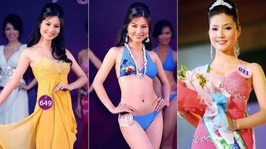 Trước khi thành minh tinh nổi tiếng, Diễm My 9X cũng từng chăm chỉ đi thi hoa hậu