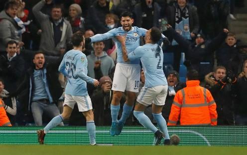 Aguero ghi bàn phút bù giờ, Man City đánh bại Bristol ở lượt đi