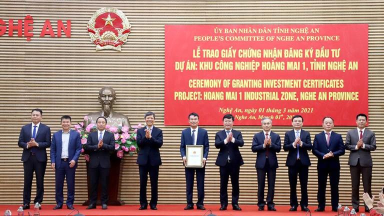 Phấn đấu trong 2 năm, thu hút nguồn vốn 1 tỷ USD đầu tư vào KCN Hoàng Mai 1