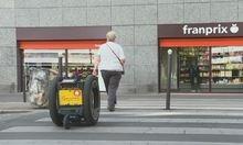 Robot giúp người già mang hàng hóa khi mua sắm