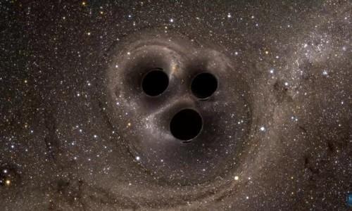 Ba hố đen xoay tròn quanh nhau trước 'cuộc đụng độ'