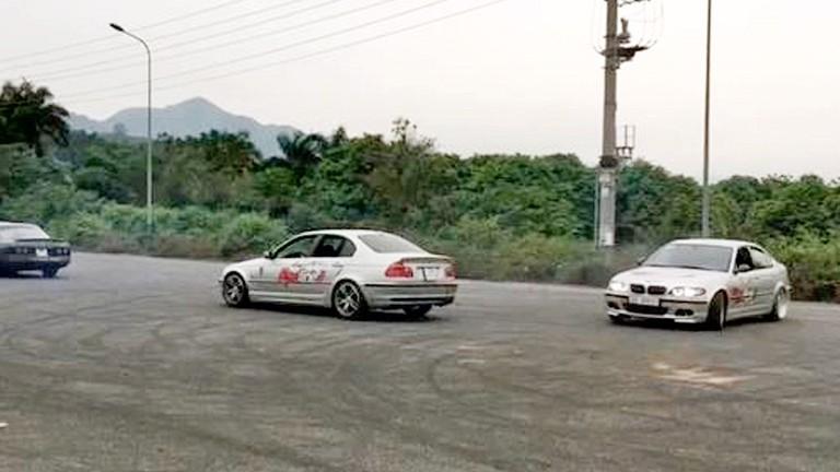 Tay lái Việt trổ tài drift tại Hà Nội
