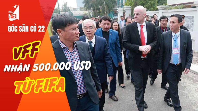 40 ngày cải tạo mặt cỏ sân Vinh; VFF nhận 500.000 USD từ FIFA