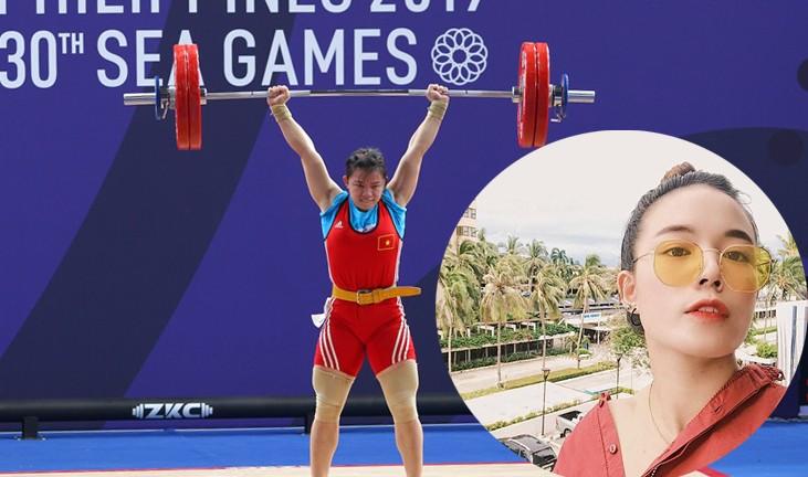 Xao xuyến với sắc đẹp của cô gái cử tạ đạt Huy chương Vàng SEA Games