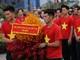 Cầu thủ U23 Việt Nam bảnh bao trong Gala tôn vinh ở TP HCM