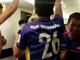 Các cầu thủ Việt Nam nhảy múa khi đoạt vé vào vòng 1/8