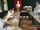 Kiểm tra công tác bầu cử tại thị xã Hoàng Mai