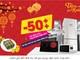 Trung tâm mua sắm Hồng Hà giảm giá đến 50% dịp Tết