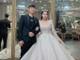 Vợ Bùi Tiến Dũng thử váy cưới gần 100 triệu đồng