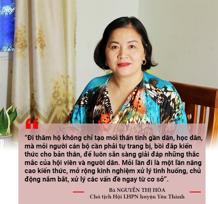 Chủ tịch Hội LHPN huyện Yên Thành - Nguyễn Thị Hòa