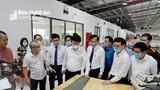 Chủ tịch UBND tỉnh Nguyễn Đức Trung thăm các mô hình kinh tế tại huyện Yên Thành