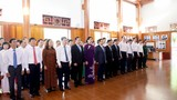 Lãnh đạo Trung ương, tỉnh dâng hương tưởng niệm đồng chí  Nguyễn Thị Minh Khai