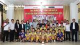 Sông Lam Nghệ An đón đội U11 cùng cúp vô địch toàn quốc 2020