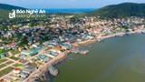 Xã biển Quỳnh Lập - tâm dịch Covid-19 của Nghệ An nhìn từ trên cao
