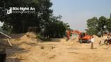 Đình chỉ 4 bến cát hoạt động không phép ở Đô Lương