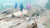 Sạt lở kinh hoàng vì mưa lớn ở miền Tây Nghệ An