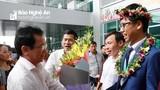 Nghệ An đón học sinh giành Huy chương Bạc Olympic Toán quốc tế
