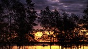 Ngẩn ngơ ngắm bình minh tuyệt đẹp nơi cửa sông Lam