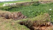 Đê Sông Bùng bị sạt lở, nguy cơ người dân mất đất sản xuất