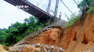 Nguy cơ sập mố cầu treo ở Kỳ Sơn