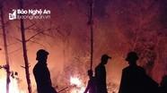 Lửa đỏ rực cả vùng trời, hàng trăm người trắng đêm cứu rừng ở Nghệ An