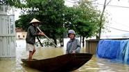 Châu Nhân (Hưng Nguyên): Nước tiếp tục dâng, nhiều nơi ngập trên 1,5 mét