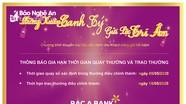 BAC A BANK điều chỉnh lịch trao thưởng chương trình khuyến mại 'Mừng Xuân Canh Tý - Gửi lộc tri ân'