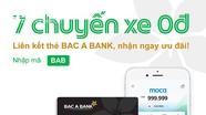 Liên kết thẻ ghi nợ BAC A BANK, nhận ngay 7 chuyến xe ưu đãi từ Grab