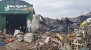 Cháy cơ sở thu mua phế liệu trong đêm
