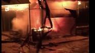 Chợ Nghĩa Thuận (TX.Thái Hòa) cháy rực trong đêm