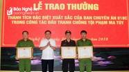 Bộ Công an khen thưởng Ban chuyên án triệt phá nhóm mua bán ma túy trong rừng ở Nghệ An