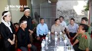 Lãnh đạo các cơ quan báo chí quê Nghệ An thăm hỏi các gia đình thuyền viên mất tích, tử vong